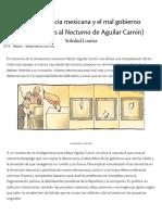 Soledad Loaeza. La democracia mexicana y el mal gobierno (Comentarios al Nocturno de Aguilar Camín) Nexos