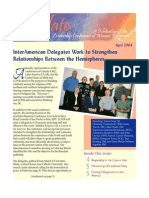 April 2004 Leadership Conference of Women Religious Newsletter