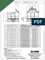 Desenho Torre de Resfriamento Serie AP