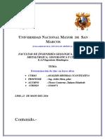 Informe de La Determinacion de Zinc en Leyes Altas