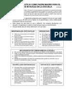 My Checklist as a Parent - Spanish