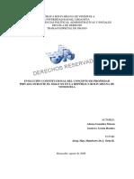 evolucion constitucional del concepto de propiedad privada durante el siglo 20 en venezuela