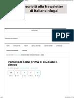 Italiansinfuga - Pensateci Bene Prima Di Studiare Il Cinese