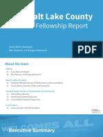 2016 Salt Lake County Year-End Fellowship Report