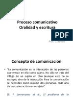 Proceso Comunicativo, Oralidad-escritura