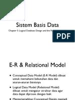 Bab - 5 - Logical Database Design and the Relational Model
