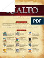 Rulebook Rialto - English Rules for Rialto - Pegasus Spiele