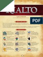 Rulebook Rialto - English Rules for Rialto - Pegasus Spiele