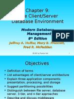 Chap09 - The Client-Server Database Environment
