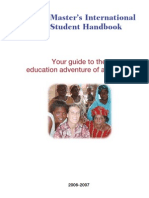 Peace Corps Master's International Student Handbook |  2006 - 2007