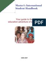 Peace Corps Master's International Student Handbook |  2006 - 2007