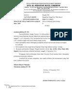 Surat Pemberitahuan Uas DTA Kelas 6