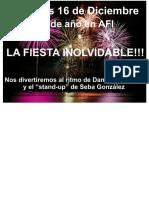 Cartel Fiesta Fin de Año
