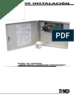 Guia de Instalacion Panel de Control XR500 en Español