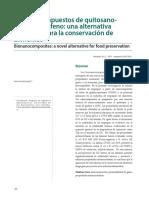 Bionanocompuestos de Quitosano-óxido de Grafeno