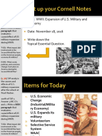 Day 4 - 2016 - US - Mobilization Military and Economy