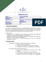 Syllabus Operations d'Evaluation
