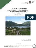 LÍNEAS DE ACCIÓN PARA EL DESARROLLO TURÍSTICO DE LA PRESA RODRIGO GÓMEZ -LA BOCA-,  MUNICIPIO DE SANTIAGO, NUEVO LEÓN