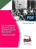 1. La Asamble Obrera de Alimentación Nacional - Nicolás Miranda