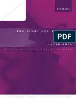 David Ross the Right and the Good British Moral Philosophers 2003