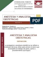 Anestesia y Analgesia Obstetricas Unico