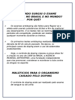 Quando Surgiu o Exame Antidopping No Brasil e No Mundo - Gabi
