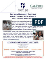 ECHS Enrollment Meeting Flyer