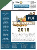 Chapter 776 November 2016 Newsletter
