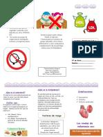 folleto dislipidemia