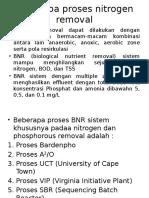 Beberapa Proses Nitrogen Removal
