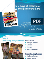 igniting a love of reading at the elementary level - svrc
