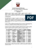 Solicita Convocatoria EM 2017 - 3 Distritos Creados 2015