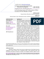 A Study on Non-Performing Assets & Performance of New Generation Private Banks in India