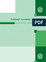 National Assembly of Pakistan Handbook for Members