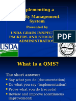 Training - Implementing a QMS