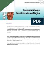 Instrumentos e Tecnicas de Avaliação