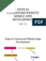 steps in courseware development