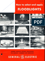 GE Lighting Systems Floodlight Application Brochure 1958