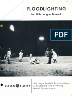 GE Lighting Systems Floodlighting Little League Baseball Brochure 1962