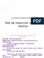 Test de Retencion Visual de Benton 1