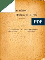 Las enfermedades mentales en el Perú