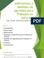 Procedimientos y Medidas de Seguridad Para Trabajos en Alturas