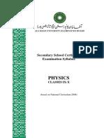 Physics _Classes IX-X__NC 2006_Latest Revision June 2012