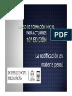 La Notificación en Materia Penal _(2a Parte_)
