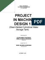 Machine Design 1- Water Tank