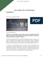 Ditadura Criou Campos de Concentração Indígenas (UOL)