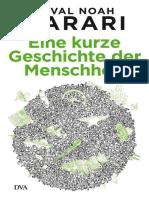 Harari, Yuval Noah - Eine Kurze Geschichte Der Mensc
