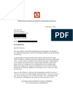 Church of Scientology letter to A&E Leah Remini Show