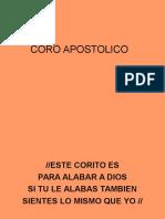 CORO APOSTOLICO.ppt