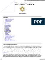 Alfabeto Ebraico Biblico